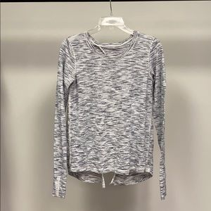 Lululemon grey open back long sleeve top